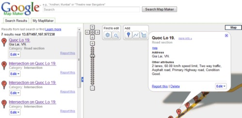 Comment fonctionne Google Map Maker ?
